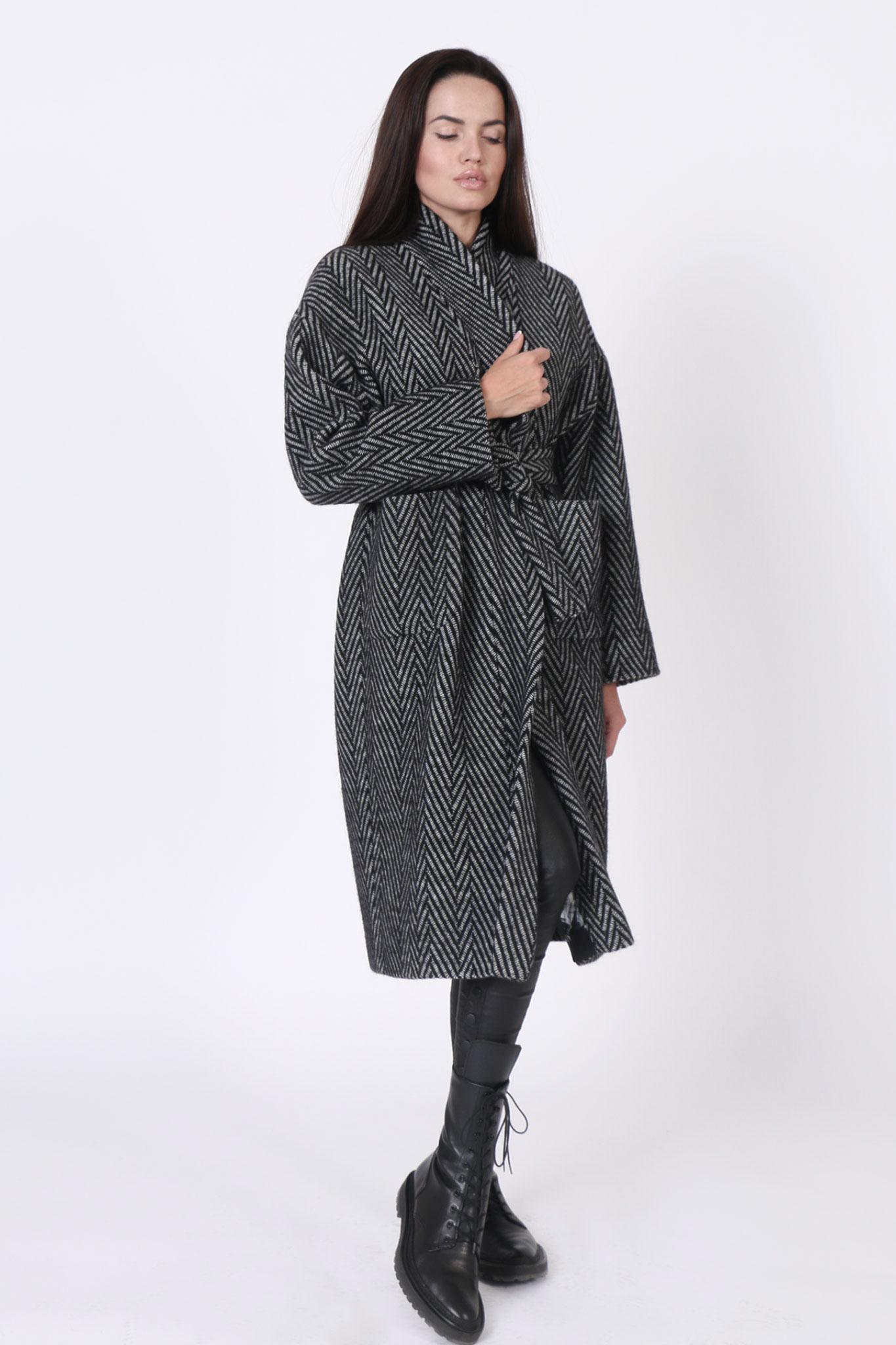Coat Herringbone Long